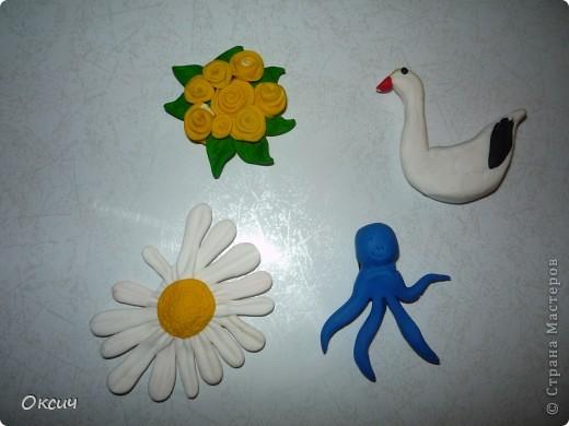 Мои первые магнитики из пластики фото 1