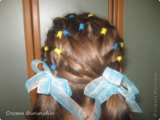 Одна из причёсок в школу на урок хореографии.  фото 3