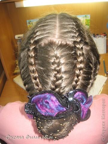 Одна из причёсок в школу на урок хореографии.  фото 1