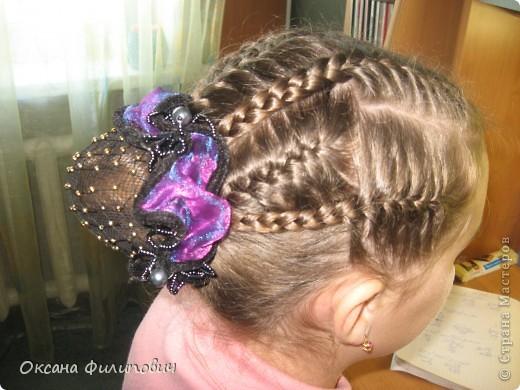 Одна из причёсок в школу на урок хореографии.  фото 2