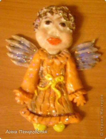Вот такой ангел у меня получился, первые пробы работы с лицом. фото 1