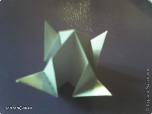 30 модулей без клея. Квадраты 8.5 *8.5, кусудама в диаметре ок.18 см. фото 9