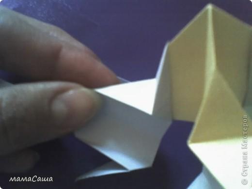 30 модулей без клея. Квадраты 8.5 *8.5, кусудама в диаметре ок.18 см. фото 12