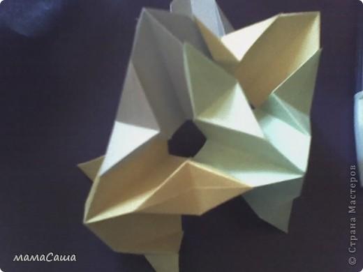 30 модулей без клея. Квадраты 8.5 *8.5, кусудама в диаметре ок.18 см. фото 13