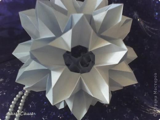 30 модулей без клея. Квадраты 8.5 *8.5, кусудама в диаметре ок.18 см. фото 15