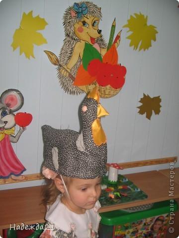 Сценические шляпки курочки Ряба и барашка. фото 3
