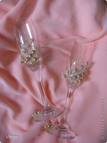 Как и многим, захотелось попробовать украсить бокалы. Принимайте результат! фото 2