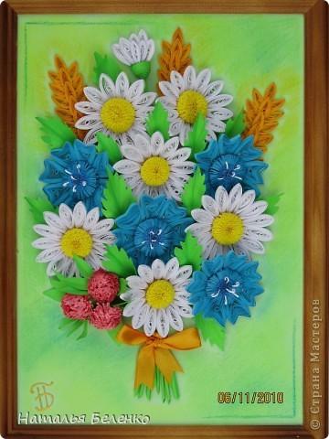 Вот и у меня появился букет полевых цветов.  фото 9