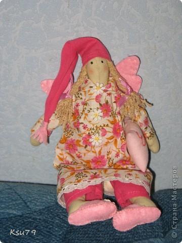Эта Феечка добрых снов была подарена хорошей девочке Евочке на первый день рождения. фото 1