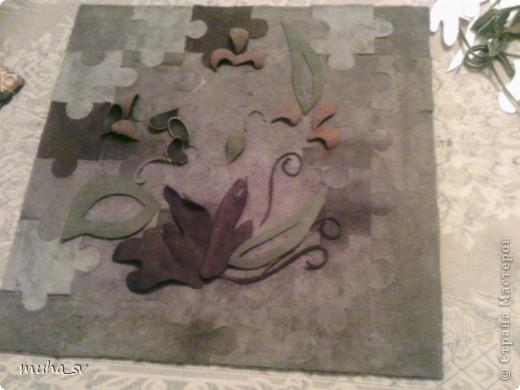 Ширма своими руками. Изготовленная из древесины (отходы ) и декорированная остатками кожи. фото 13