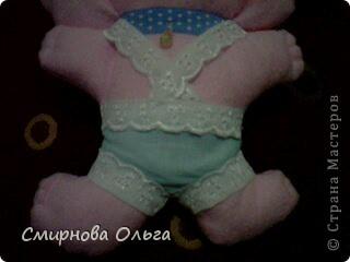 На сайте Радуга увидала такого синенького зайчишку. Себе решила сшить розового... фото 6