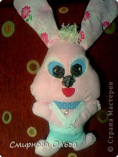 На сайте Радуга увидала такого синенького зайчишку. Себе решила сшить розового... фото 3