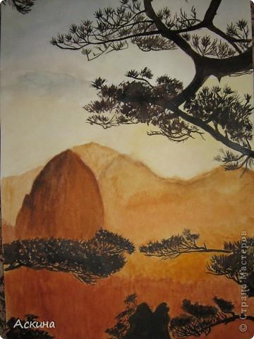 Очень люблю рисовать. Поэтому даже купила самоучитель и теперь рисую по нему. Одинокое дерево. фото 4