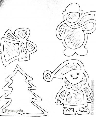 Снеговики-трафареты фото 4