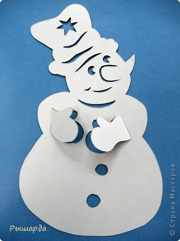 Снеговики-трафареты фото 2