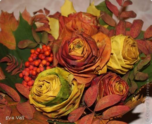 Мой осенний букет из кленовых роз