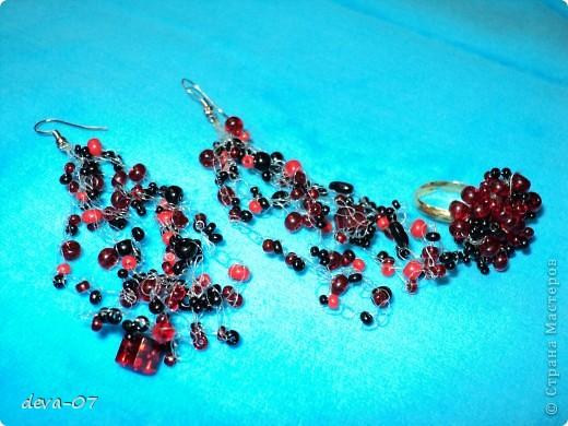 Колье, серьги и браслет.Воздушка фото 4