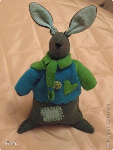 Вот ещё Зайка! Правда муж -мой главный критик -сказал ,что он похож на кенгуру!  фото 3