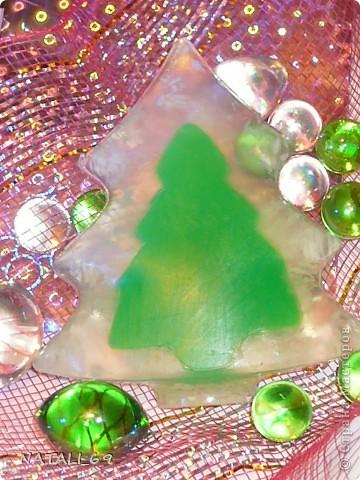 Новогодняя елочка (мыло)