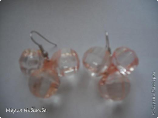 Было старое мамино ожерелье, а стали мои новенькие сережки )) фото 3