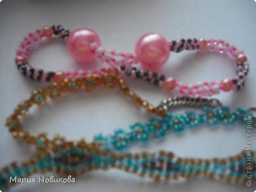 Было старое мамино ожерелье, а стали мои новенькие сережки )) фото 5