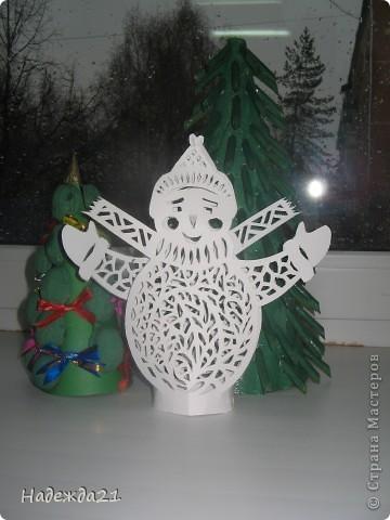 Вот такой снеговичок получился благодаря МК З,Дадашевой. фото 2