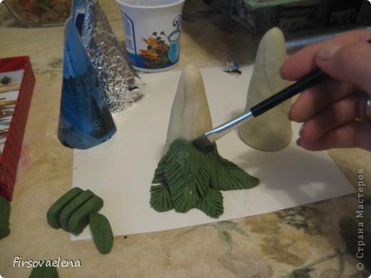 Ёлочка с шишками. Решила сделать ёлочку,а т.к МК на них еще нет - решила показать свой. фото 5