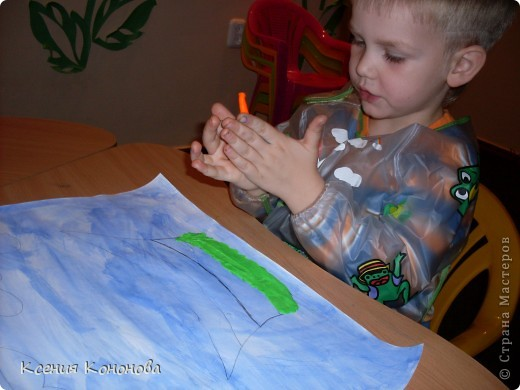 А вот кораблик Никиты,ему 4 года,аккуратный и способный ученик. фото 4