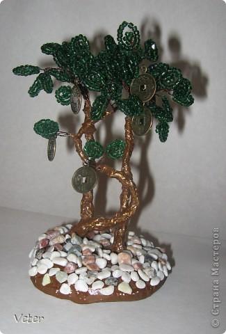 Бисерное дерево для привлечения финансов :)