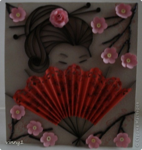 Сакура в цвету. На сайте есть несколько таких работ в технике вырезания фото 2