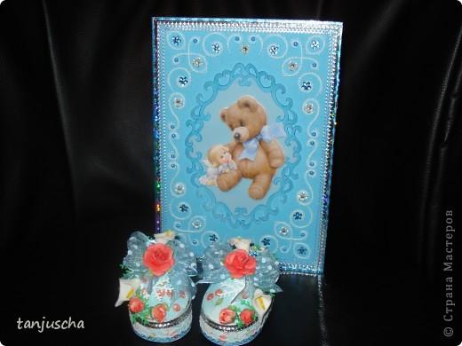 Мастер-класс Скрапбукинг День рождения Пергамано Пинетки из бумаги для новорождённых Бумага фото 6