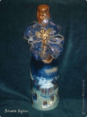 Уже скоро Новый год, и я начала усиленно готовиться, эти бутылочки - подарки моим друзьям фото 2