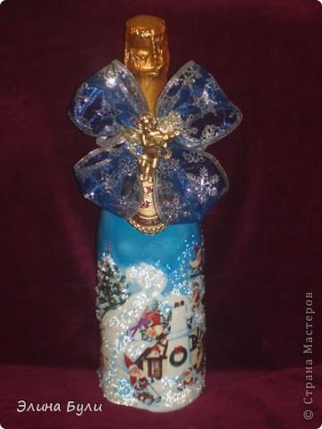 Уже скоро Новый год, и я начала усиленно готовиться, эти бутылочки - подарки моим друзьям фото 3