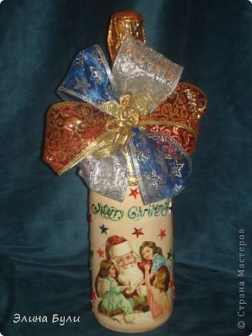 Уже скоро Новый год, и я начала усиленно готовиться, эти бутылочки - подарки моим друзьям фото 6
