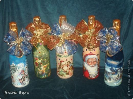 Уже скоро Новый год, и я начала усиленно готовиться, эти бутылочки - подарки моим друзьям фото 1