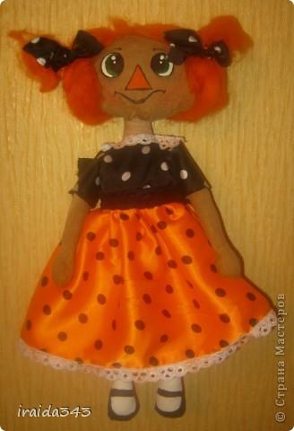 Чердачная кукла, тонирована кофе, ванилью, корицей. фото 2