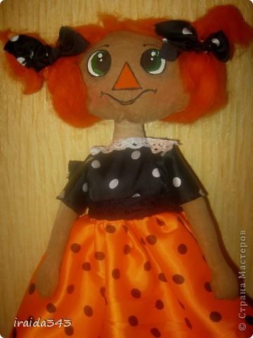 Чердачная кукла, тонирована кофе, ванилью, корицей. фото 1
