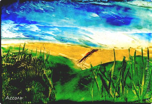 Если рисовать восковым карандашом по горячему картону, то может получиться интересный эффект (мне кажется на масляные краски похоже)) фото 2