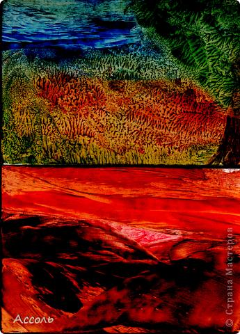 Если рисовать восковым карандашом по горячему картону, то может получиться интересный эффект (мне кажется на масляные краски похоже)) фото 3