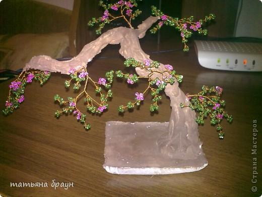 Поделка изделие Бисероплетение Дерево из бисера Бисер.