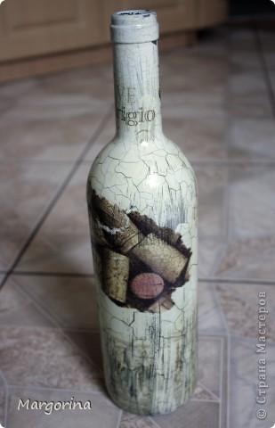 Состаривание бутылки. фото 1