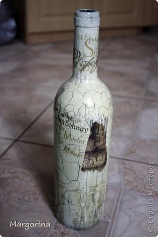 Состаривание бутылки. фото 2
