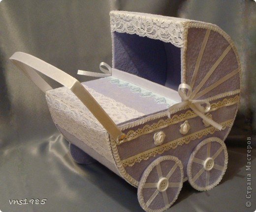 """Свадебные коробочки для денег """"Коляски для мальчика и девочки"""" фото 2"""