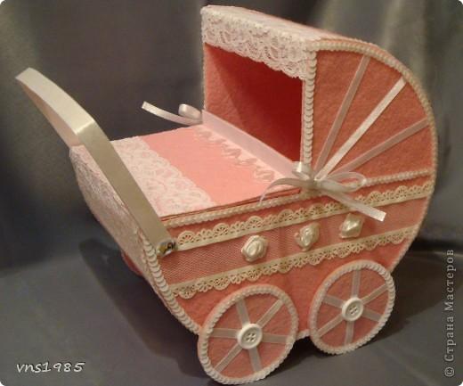 """Свадебные коробочки для денег """"Коляски для мальчика и девочки"""" фото 1"""