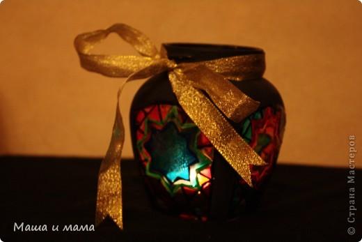 Материалы: банки стеклянные, краски по стеклу, блестки и фантазия фото 1