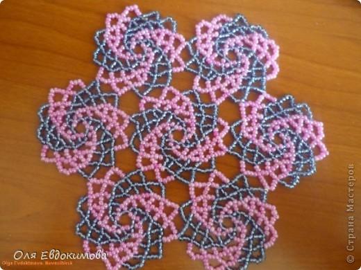 Плетение - Салфетка из бисера.
