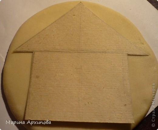 Домики из теста - подвески, размер 11х12 Чтобы в доме больше добра копилось и счастье.... фото 3