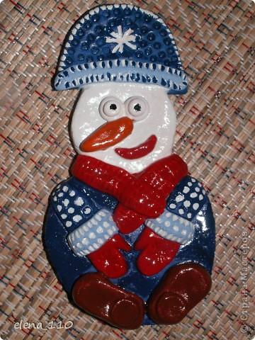 Снеговик в цвете фото 1