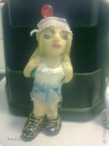 Портретные куклы. 14 см, питерская пластика, ткань, нитки. Буду рада любым комментариям. фото 5