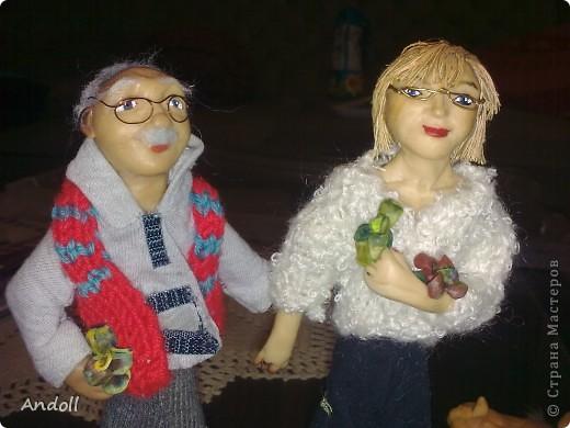 Портретные куклы. 14 см, питерская пластика, ткань, нитки. Буду рада любым комментариям. фото 3